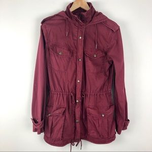 Aritzia Talula Maroon/ Burgundy Trooper Jacket